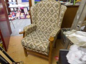 Stunning Fabric Fireside Chair - Like New