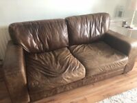 3 seater leather sofa - free