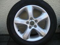 """SKODA 15"""" NEW ALLOY WHEEL WITH NEW HANKOOK TYRE - MAY FIT VW/ SEAT/ POLO"""