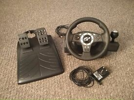 Logitech Driving Force Pro steering wheel and pedals (PS2 / PS3 / PC)