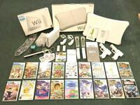 Nintendo Wii White Console boxed with Controllers 19 games, balance board great mega bundle