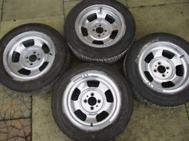 """4 X 14"""" Wolfrace Alloy Wheels & Tyres in very good condition [Tyres only done approx 100 miles]"""