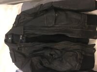 Jack and Jones real leather jacket bomber Medium