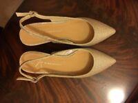 Sparkly slingback sandals for sale