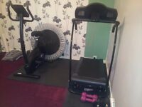 Gym equipment - Reebok Z9 Exercise Bike, Tredmill, Cross trainer