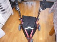 3 WHEEL SHOPPING TROLLEY WITH HAND BRAKES