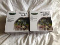 Two x Clear Window Feeder for Birds Brand New in Box