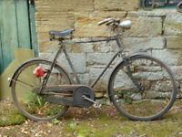 Vintage Raleigh Bicycle - Rod Brakes