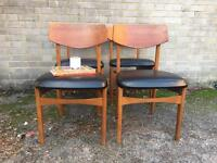 SET VINTAGE CHAIRS FREE DELIVERY DANISH RETRO MIDCENTURY