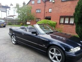 B.M.W Convertible for sale, in pearl blue,lady owner last 5 years.