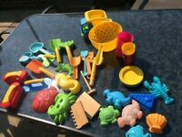Selection of sand pit toys - excellent condition