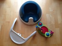 Mamas & Papas Baby Snug with Play Tray - Soft Teal
