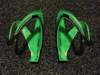 Cycling bottle cages - fluro green x2