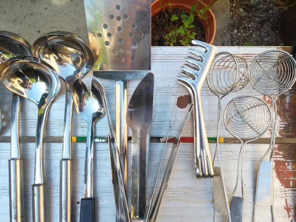 Stainless Steel Cooking Utensils | in Ladybarn, Manchester | Gumtree