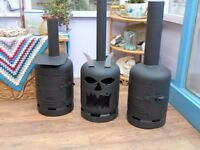 gas bottle log burner /chimeneas