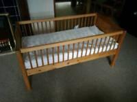 Cildrens cot with mattress