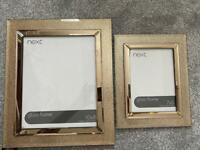 Next sparkly photo frames x3
