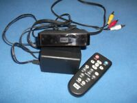 western digital media player usb port with leads used condition