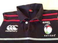 Junior 6 Nations Canterbury rugby shirt.