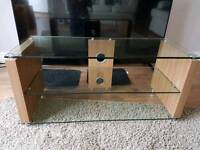 Wood/Glass modern TV stand