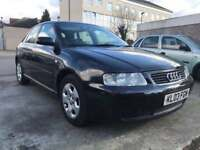 AUDI A3 AUTOMATIC BLACK 1.8/ 72000/ 1 YEAR MOT / SERVICE HISTORY/ SPARES/REPAIRS ONLY £695