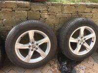 GENUINE AUDI 18 INCH ALLOYS WITH TYRES