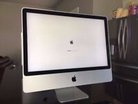 "Apple iMac 24"" A1225 (Mid 2008) 2.80Ghz Intel Duo Core 4GB RAM, 512MB Graphics, 500GB HDD, working"