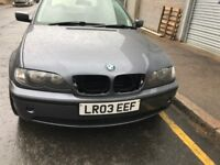 03 BMW E46 4 DOOR 318 PETROL MANUAL THIS CARS FOR BREAKING FOR ANY PARTS CALL ON