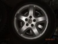 vauxhall vectra c fits omega and others 4x wheels rims tyres 120£ o.n.o