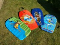 Kids body boards x 4