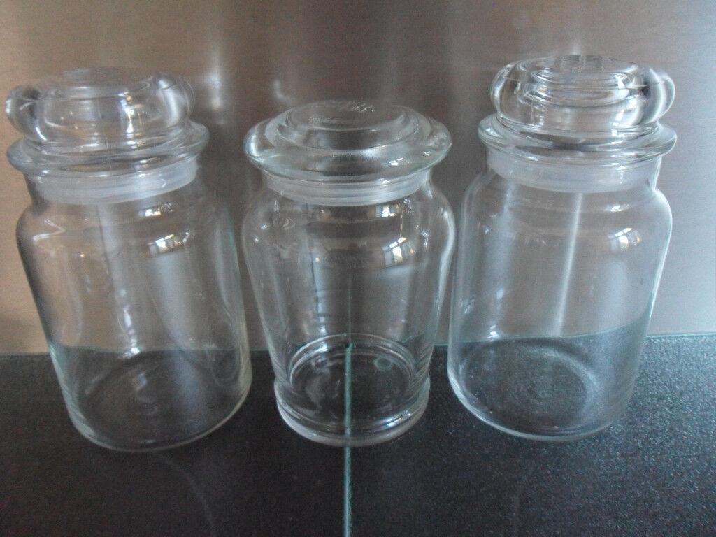 3 x yankee candle empty large glass jars lids christmas wedding diy crafts storage in. Black Bedroom Furniture Sets. Home Design Ideas