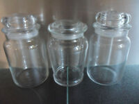 3 x Yankee Candle Empty Large Glass Jars & lids, Christmas, Wedding DIY Crafts, Storage