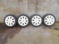 White Mini R104 Crown Alloys 17 Inch - R50, R52, R53, R56 Mini One, Cooper, Cooper S