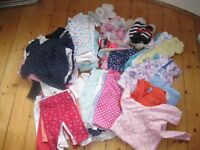 Baby girl clothes bundle 3-6 months 50+ items