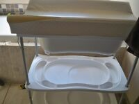 Baby Changing Table with integrated baby bath