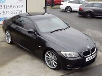 LATE 2010 BMW 320D M SPORT AUTO 181 BHP COUPE (FINANCE & WARRANTY AVAILABLE)