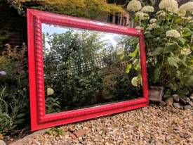 Beautiful Red Gloss Mirror
