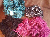 4 x ladies scarves - bargain