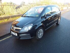 VAUXHALL ZAFIRA SERVICE HISTORY 1 YEARS MOT NEW MODEL WITH PRIVATE PLATE 108000 miles