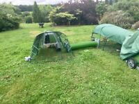 2meter Rabbit run with tunnels and handles for Eglu Go