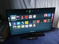 SAMSUNG 40 INCH FULL HD 1080P SMART LED INTERNET TV WITH FREEVIEW HD BUILT IN.