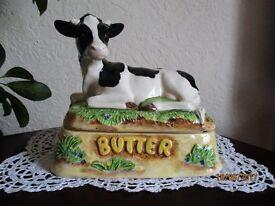 James Herriot - Cow Butter Dish - Border Fine Arts