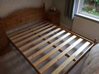 King Size Antique Pine Bed