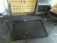 Large dog cage 2 door.