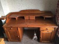 Large wooden desk for sale
