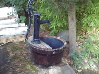 Self contained water feature - village pump