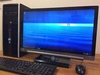 "GAMING PC HP Win10, Core i7 3.40Ghz, 8GB Ram, 500GB + 23"" HP Full HD LED Screen Desktop Computer PC"