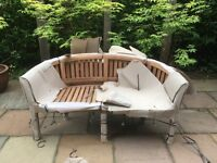 Teak bannana bench brand new bought at the end of last summer no longer needed