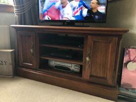 Rosewood living room corner tv unit