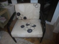 Side chair, metal frame, uphotstered